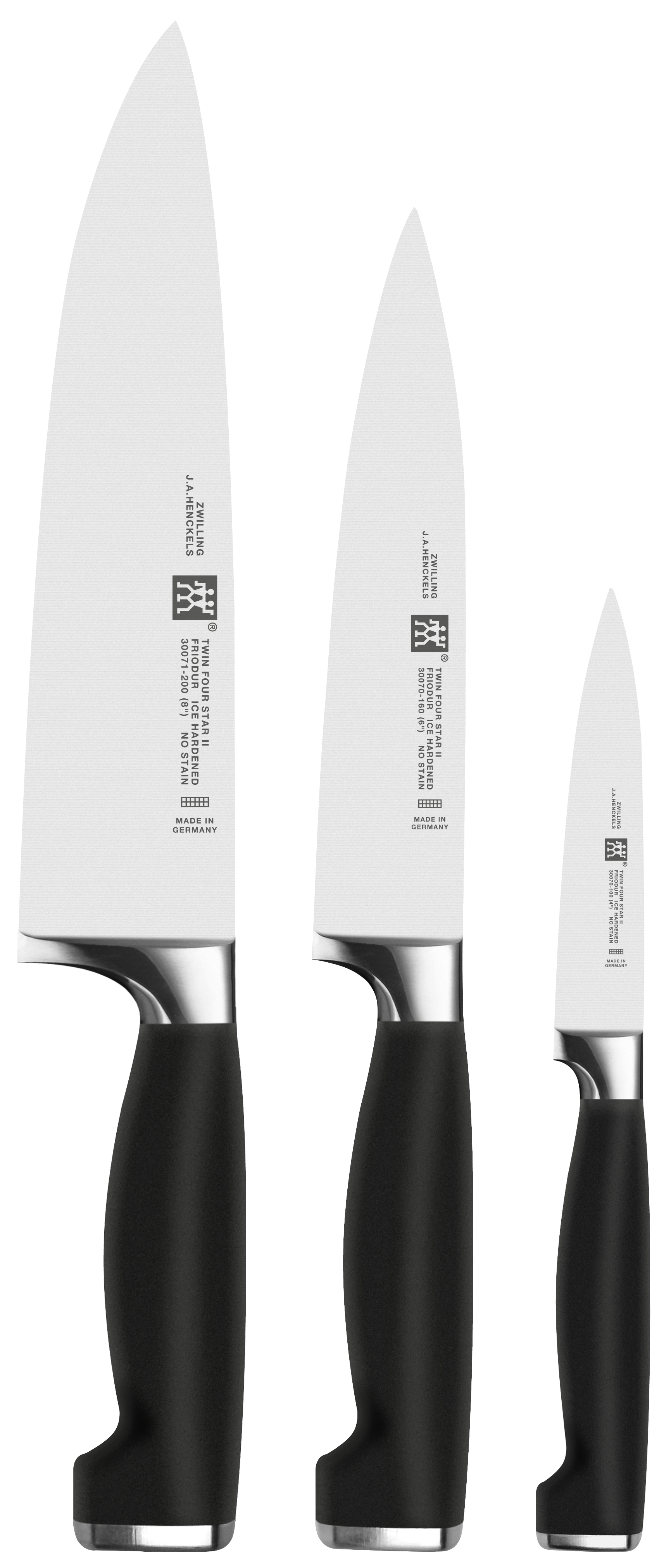 Zwilling: Twin Four Star II Messerset, 3-tlg.