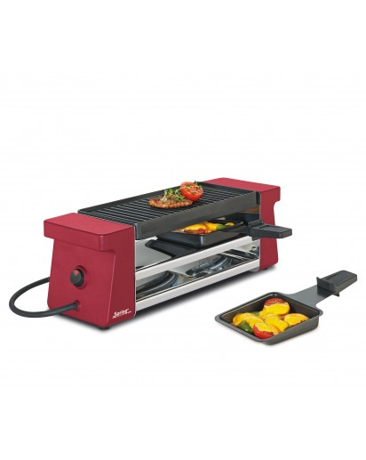 Spring: Raclette 2 Compact, rot mit Alugrillplatte EU