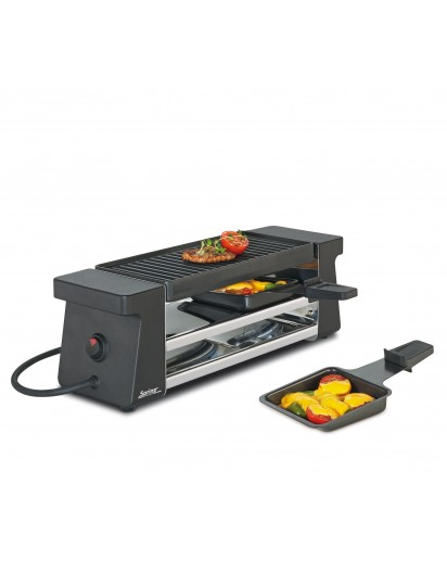 Spring: Raclette 2 Compact, schwarz mit Alugrillplatte EU