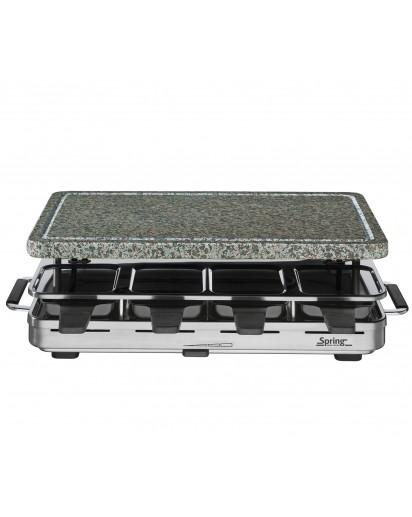 Spring: Raclette8 mit Granitstein EU, silber