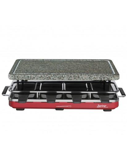 Spring: Raclette8 mit Granitstein EU, rot