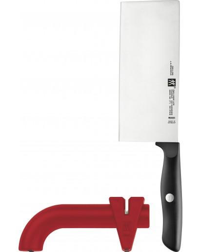 Zwilling: Life Messerset 2 tlg., Chinesisches Kochmesser &  Messerschärfer
