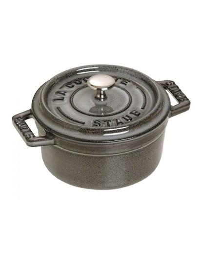 Staub: Runde Mini Cocotte, Grafitgrau, Ø10cm