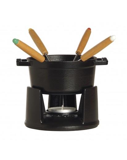 Staub: Mini Fondue Set, Ø10cm, schwarz
