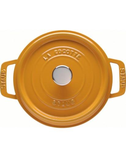 Staub: Runde Cocotte, Ø24cm, Senfgelb