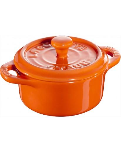 Staub: Mini Cocotte, rund, 10 cm, orange