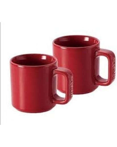 Staub: 2er Set Tasse kirschrot