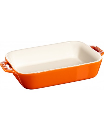 Staub: Auflaufform, rechteckig, 20x16cm, orange