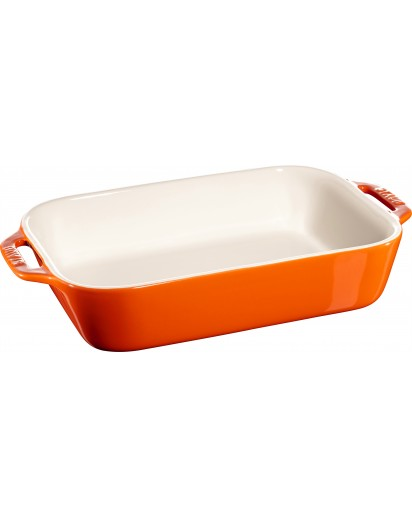 Staub: Auflaufform, rechteckig, 27x20 cm, orange