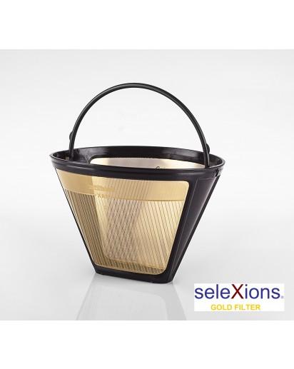 Selexions: GF4S Gold Kaffee-Dauerfilter (Filter Nr. 4) mit Titanhartschicht