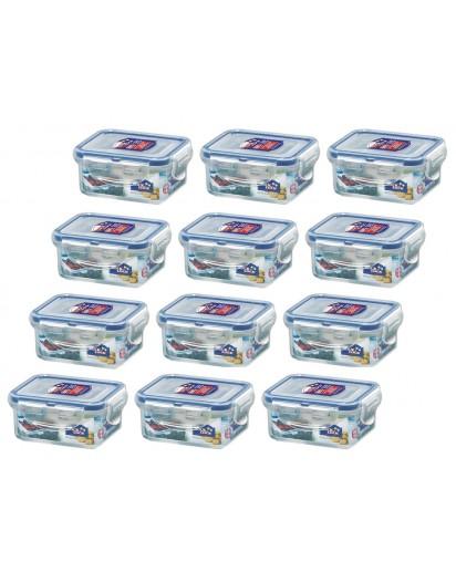 Lock & Lock: Set 12 x Lock & Lock Dose rechteckig 180 ml (HPL805/12)