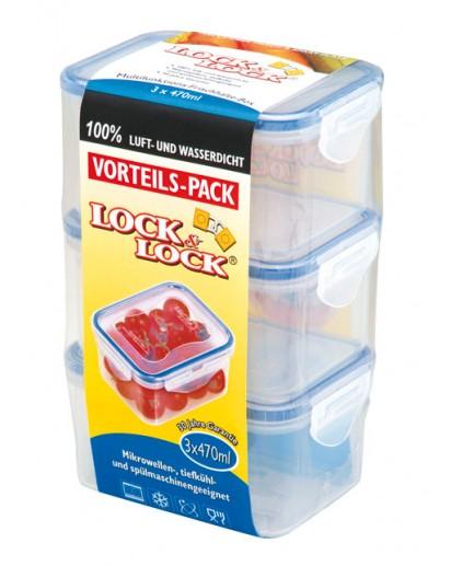Lock & Lock: Set 3x Lock & Lock Dose HPL807 470 ml (HPL8070LT3)