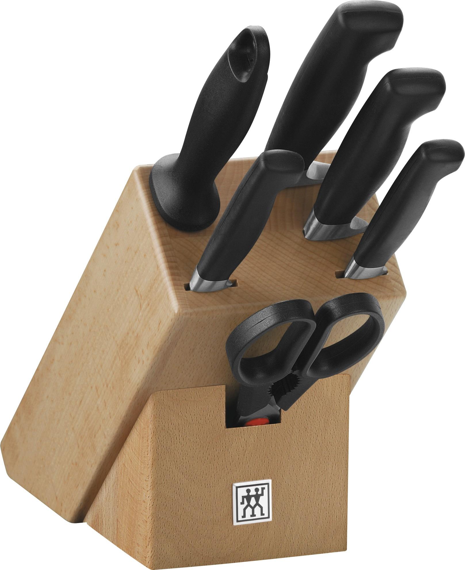 online shop vier sterne messerblock natur 7 tlg kaufen. Black Bedroom Furniture Sets. Home Design Ideas