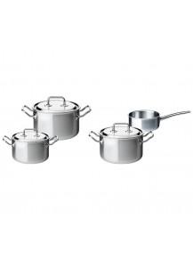 Spring: Brigade Premium Topfset/Starterset/Kochgeschirrset mit Stielkasserolle, 4-tlg.