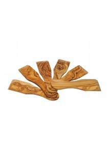 Raclette Spachtel Olivenholz, 6 Stück