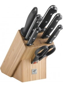 Zwilling: Twin Chef Messerblock Bambus, 8-tlg.