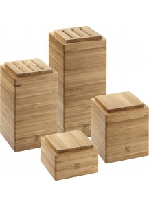 Zwilling: Küchenutensilienhalter 4 tlg. Bambus