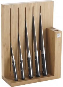 Zwilling: Pro Messerblock Bambus, 6-tlg
