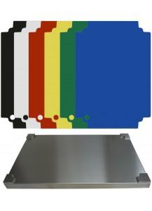 Selexions: Top Board Edelstahl Schneidebrett + 6 farb. randlose Einlagen, GN1/1