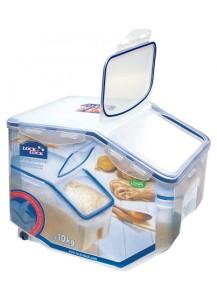 Lock & Lock: Klappbox Caddy Jumbo 12 Liter mit Rollen und Messbecher (HPL510)