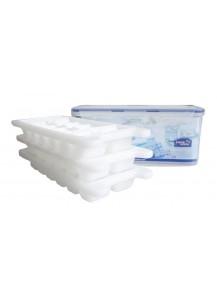 Lock & Lock: HPP250S Premium Eiswürfelbereiter , Eiswürfelbox Set, 4-teilig, Inhalt 3.4L