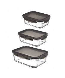 LocknLock: oven glass Set 3-tlg., rechteckig