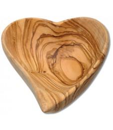 Herzschale Olivenholz