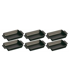 Staub: 6er Set Mini-Auflaufform 15 x 11cm, 0,25L schwarz