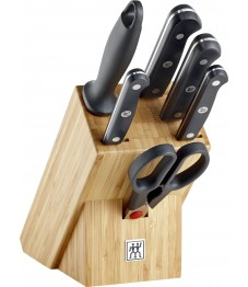 Zwilling: Gourmet Messerblock Bambus 7-tlg.