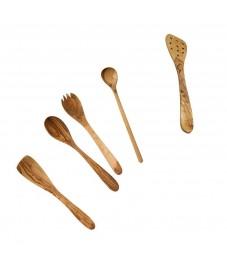 Küchenhelfer Set Olivenholz 5-teilig