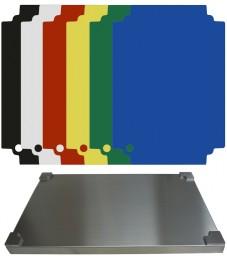 Selexions: Top Board Edelstahl Schneidbrett + 6 farb. randlose Einlagen, GN1/1