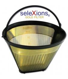 Selexions: Scala Kaffeefilter Gold (Filter Nr. 4) mit Titanhartschicht